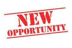 NEW OPPORTUNITY Rubber Stamp. NEW OPPORTUNITY red Rubber Stamp over a white background stock illustration