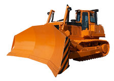 New orange bulldozer Royalty Free Stock Photo