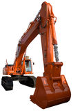 New orange excavator Royalty Free Stock Photo