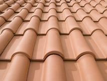 New orange roof tiles Stock Photography