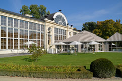 New Orangery in the Lazienki Park in Warsaw. New Orangery is located in Lazienki Park (Warsaw, Poland). Built in 1869. It housed the largest European collection Royalty Free Stock Photo