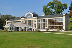 New Orangery in the Lazienki Park in Warsaw. New Orangery is located in Lazienki Park (Warsaw, Poland). Built in 1869. It housed the largest European collection Stock Photo