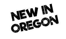 New In Oregon rubber stamp Stock Photo