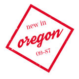 New In Oregon rubber stamp Royalty Free Stock Photography