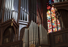 New organ in The Archcathedral Basilica in Poznan Stock Images