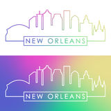New Orlean skyline. Colorful linear style. stock illustration