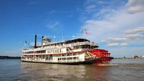 New Orleans ångbåt NATCHEZ, Mississippi River Arkivbilder