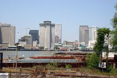 New Orleans. Skyline and riverfront of the Big Easy Stock Photos