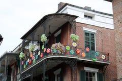 New Orleans alloggia i balconi d'annata Fotografie Stock Libere da Diritti