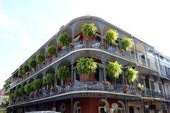 New Orleans alloggia i balconi d'annata Fotografia Stock Libera da Diritti