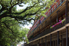 New Orleans architecture in french quarter. Royalty Free Stock Photo