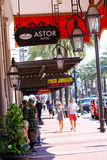New Orleans Astor Hotel Sidewalk Canal Street Stock Photography
