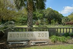 New Orleans Audubon parkerar zoo royaltyfri fotografi