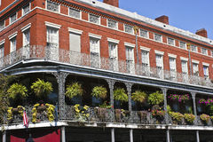 New Orleans. A New Orleans Balcony in the French Quarter Stock Photo
