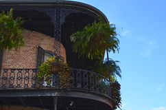 New Orleans Balcony Garden Royalty Free Stock Photo