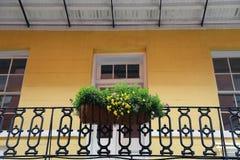 New Orleans - bloemen op balkon Stock Afbeeldingen