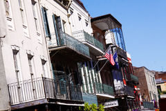 New Orleans Bourbon Street Architecture Royalty Free Stock Photo