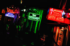 New Orleans Bourbon Street Bars and Sex Clubs Royalty Free Stock Photo
