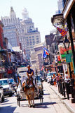 New Orleans Bourbon Street Carriage stock image