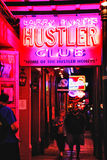 New Orleans Bourbon Street Hustler Club Stock Photography