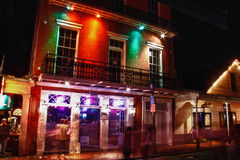 New Orleans Bourbon Street Voodoo Vibe Bar. Voodoo Vide Bar, one of the many bars and restaurants mixed in with the shops, strip clubs and music halls on Bourbon