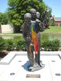 New Orleans Buddy King Bolden Bronze Cast Sculpture In Louis Armstrong Park Stock Photo