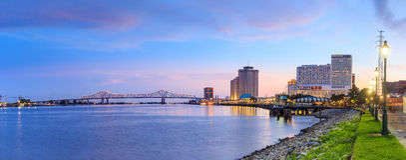 New Orleans céntrica, Luisiana y el río Misisipi Fotos de archivo