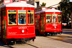 New Orleans Canal Line Street Cars Stock Images