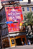 New Orleans Canal Street Billboard stock photos