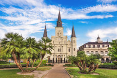 New Orleans Cathedral. New Orleans, Louisiana, USA at Jackson Square and St. Louis Cathedral royalty free stock image
