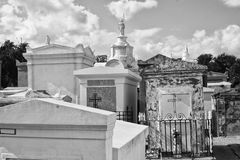 New Orleans Cemetery. Rows of Vaults in a New Orleans Cemetery stock images