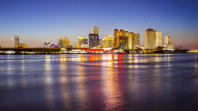New Orleans City Skyline Across the Mississippi River Stock Photos