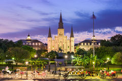 New Orleans City Square. New Orleans, Louisiana, USA at St. Louis Cathedral and Jackson Square Stock Images