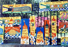 New Orleans colored paintings 2002 Stock Image