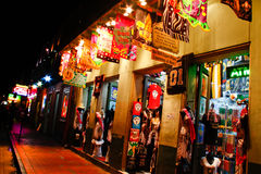New Orleans Colorful Bourbon Street Souvenirs Royalty Free Stock Images