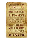 New Orleans Crescent City Circus Flyer Stock Afbeelding