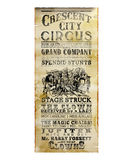 New Orleans Crescent City Circus Flyer Royalty Free Stock Photography