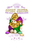 New Orleans Culture Collection Mardi Gras Court Jester. The Fool Entertainer Purple Green Gold Fat Tuesday Celebration Parade Royalty Free Stock Image