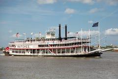 New Orleans - de Boot van de Peddel van de Stoom Stock Afbeelding