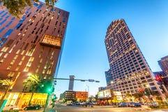 NEW ORLEANS - 20 DE ENERO DE 2016: Calles de la ciudad en la tarde nuevo Fotografía de archivo libre de regalías