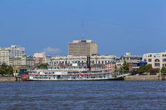 New Orleans downtown with Mississippi river Royalty Free Stock Photo