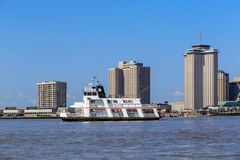 New Orleans downtown with Mississippi river Stock Photography