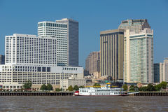 New Orleans downtown with Mississippi river Royalty Free Stock Photos
