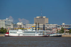 New Orleans downtown with Mississippi river Stock Photos