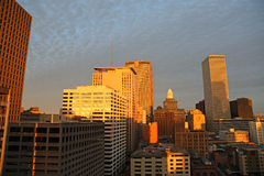New Orleans downtown at sunset Royalty Free Stock Images