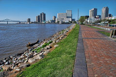 New Orleans en de Mississippi Stock Foto