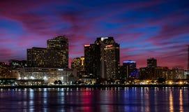 New Orleans en la noche foto de archivo
