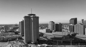 NEW ORLEANS - FEBRUARY 11, 2016: Aerial view of city skyline. Th Royalty Free Stock Images