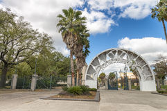 NEW ORLEANS - FEBRUARY 2016: Armstrong Park on a beautiful day. This is one of the most famous city parks Royalty Free Stock Photos
