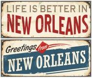 New Orleans Florida retro tin sign Royalty Free Stock Photo
